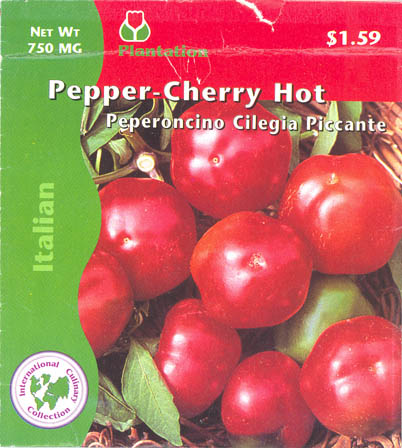 Chilipeber, Cherry Hot, Capsicum annuum </i>L.<i>